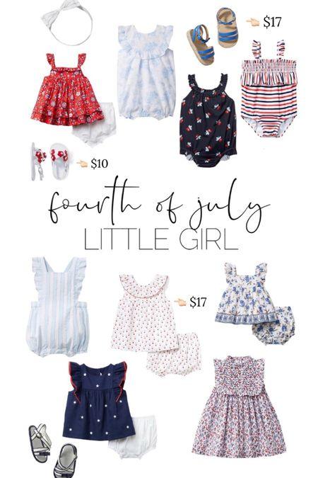 Fourth of July // girl  // http://liketk.it/3iejQ  baby girl // toddler // @liketoknow.it #liketkit #LTKunder50 #LTKbaby #LTKsalealert