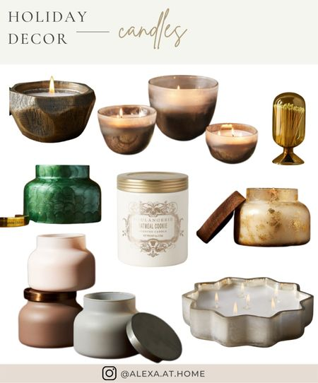 Holiday decor - candles   Holiday candles, winter candles, Christmas candles, candles   #LTKSeasonal #LTKHoliday #LTKhome