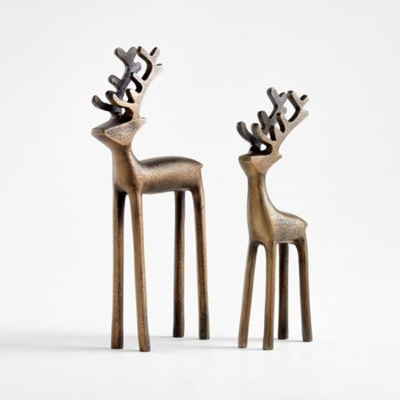 There were my best sellers yesterday!  Christmas decor, reindeer, crate and barrel, gold Christmas, shelf decor, living room decor, kitchen Decor, Bedroom Decor, Nightstand Decor,  #LTKHoliday #LTKhome #LTKstyletip