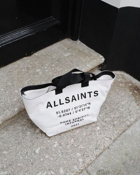 All saints, fashion blogger, bag, tote bag, canvas bag, high end fashion, fashion blogger, accessories, handbag, handbag goals, handbag dreaming http://liketk.it/3hODx #liketkit @liketoknow.it