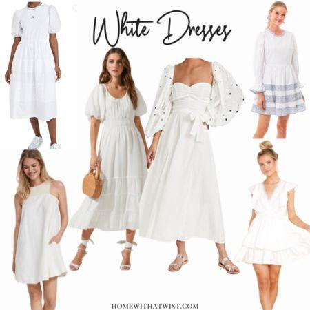 White dresses for summer! http://liketk.it/3j9OG #liketkit @liketoknow.it #LTKunder100 #LTKhome #LTKwedding