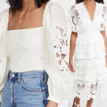 White lace dress  White lace top  Summer shirt  Summer dress White dress    #LTKSeasonal #LTKstyletip #LTKwedding