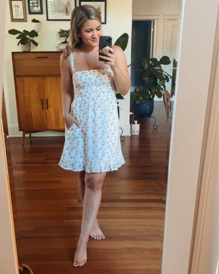 The cutest little peach print dress - perfect for summer! @liketoknow.it http://liketk.it/3gbhX #liketkit  Peach print Mini dress Sundress Abercrombie dress Affordable dress Smocked dress