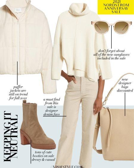 All neutral fall outfit idea out of pieces from the Nordstrom anniversary sale. #nsale http://liketk.it/3jJEt #liketkit @liketoknow.it #LTKunder50 #LTKunder100 #LTKsalealert
