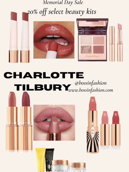 http://liketk.it/3gwzL Some of Charlotte Tilbury beauty kits are 20% off for Memorial Day Sale! Come and shop! My favs are their skincare kits with the wonderful magic cream and I also love the lipstick kits! Follow me on the LIKEtoKNOW.it shopping app to get the product details for this look and others #LTKbeauty #LTKstyletip #LTKsalealert http://liketk.it/3gsxP #liketkit @liketoknow.it #charlottetilbury #makeup #beauty #beautysale #beautykits #memorialdaysale