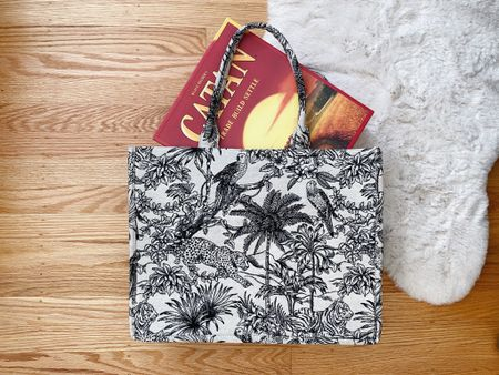 Most importantly - this embroidered tote is large enough to fit board games!  #LTKunder50 #LTKitbag