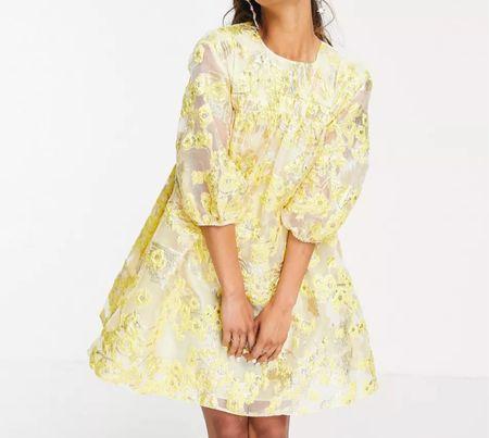 Metallic puff sleeve dress   #LTKSeasonal #LTKHoliday #LTKwedding