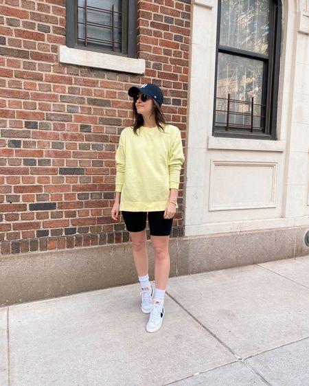 @liketoknow.it http://liketk.it/3g0pW #liketkit  Casual outfit Errands outfit Baseball hat Slouchy socks Amazon find Biker shorts Bike shorts Pocket bike shorts  #LTKunder100 #LTKunder50 #LTKsalealert