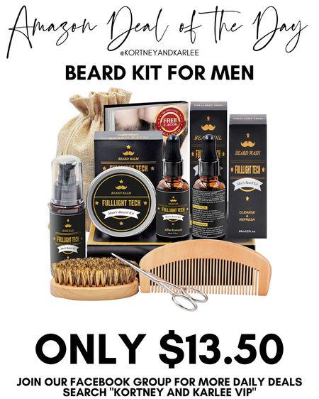 Amazon Deal of the Day!! Only $13.50 for this beard kit! This would make such a great Christmas present!   Amazon daily deal | amazon deal | amazon beauty | amazon finds | amazon favorites | amazon lightening deal | Kortney and Karlee | #kortneyandkarlee #LTKunder50 #LTKunder100 #LTKsalealert #LTKstyletip #LTKSeasonal #LTKhome @liketoknow.it #liketkit
