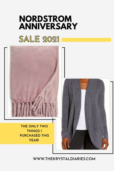 Nsale 2021 + Barefoot Dreams Cardigan + Throw Blanket  The only two things I purchased from this years sale all under $100  #LTKunder100 #LTKstyletip #LTKhome
