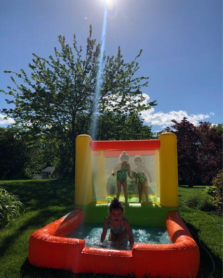 Water Bounce House and Water Slides for Kids http://liketk.it/3fGPs #liketkit @liketoknow.it #LTKunder100 #LTKswim