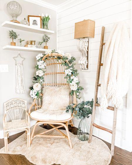 Sitting room  Farmhouse  Egg chair Rattan chair Book stack Open shelving   http://liketk.it/3alcw @liketoknow.it @liketoknow.it.home #liketkit #LTKSeasonal #LTKhome #LTKunder50