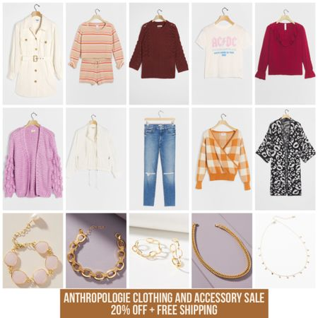 Anthropologie Clothing and Accessory Sale- 20% off + Free Shipping today! Links in LTK   #sale #salealert #anthropologie #sweater #sweaterweather #fallstyle #leopard #fall #fallvibe #styleblogger #bloggerstyle #accessory #chainnecklace #bandtee #acdc #graphictee #trending #ltktrend #LTKsalealert #rStheCon #LTKstyletip @liketoknow.it #liketkit http://liketk.it/2UWL2