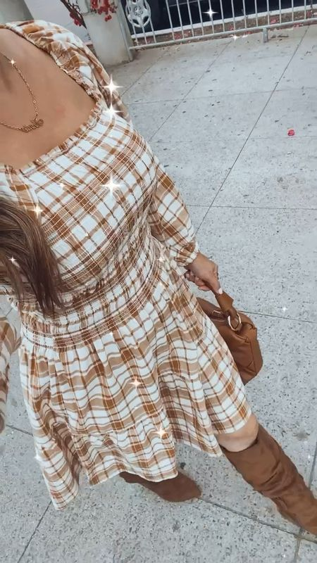 Obsessed with this plaid dress! Petite friendly and nursing friendly and only $32!  #LTKSeasonal #LTKunder50 #LTKstyletip