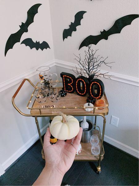 Halloween decorations home decor bar cart   #LTKfamily #LTKhome #LTKSeasonal