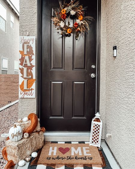 Who has their front porch decorated for fall already?! Here's some inspiration from last years door! I linked a few of the items I used! Stay tuned for this years door setup! #competition   #LTKhome #LTKSeasonal #LTKstyletip