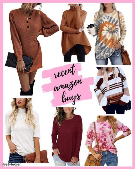 Amazon fashion finds - sweater dress and sweaters      #LTKunder50 #LTKstyletip #LTKunder100