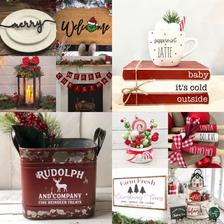 Holiday hone decor! Including place settings, decorative accents, wooden signs, banners, lanterns, and more. Most under $50.  #LTKunder50 #LTKHoliday #LTKhome