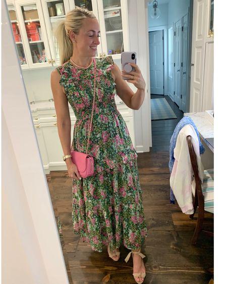 It's still summer, put on the dress • http://liketk.it/2UwKs #liketkit @liketoknow.it #smockeddress #maxidress #ruffledress