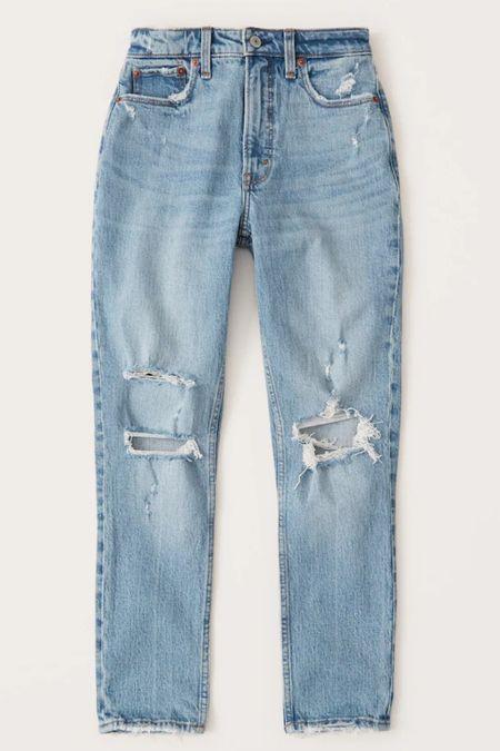 My favorite jeans are on sale for less than $40! RUN! Fit TTS. I wear 26 short.  #denim #jeans #abercrombiestyle #abercrombiejeans #ltksummer #ltkfall #affordablestyle #affordablefashion #momstyle #casualoutfits #ootd #ootdinspo   #LTKsalealert #LTKstyletip #LTKunder50