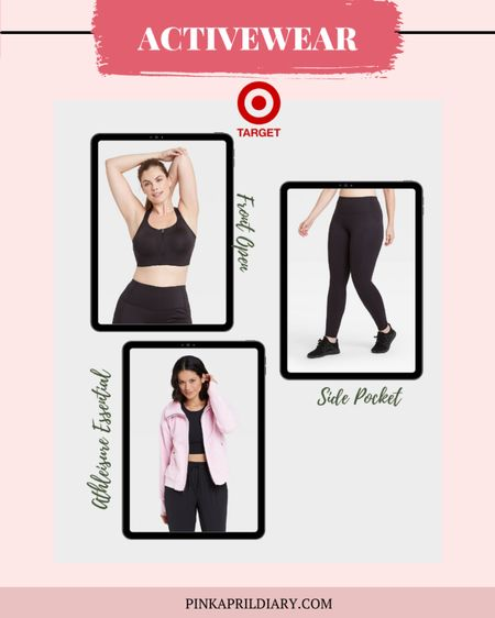 Shop the cute Sherpa cropped jacket for workout and a front open bra for ease of wear and high impact workout support #LTKunder50 #LTKfit  http://liketk.it/38NR3 #liketkit @liketoknow.it