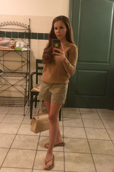 I LOVE camel sweaters. It's the perfect color year round! Select colors of my shorts are currently on sale starting at $19.99 on J.Crew's website. Sizes go up to a 16.   #LTKsalealert #LTKSale #LTKstyletip