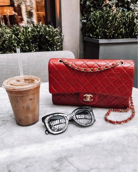 Love my red Chanel handbag! Linked similar styles. This one is vintage. Also linked a similar style to my Celine sunglasses. #liketkit #fashionjackson http://liketk.it/3kDOd @liketoknow.it    #LTKsalealert #LTKunder100 #LTKitbag