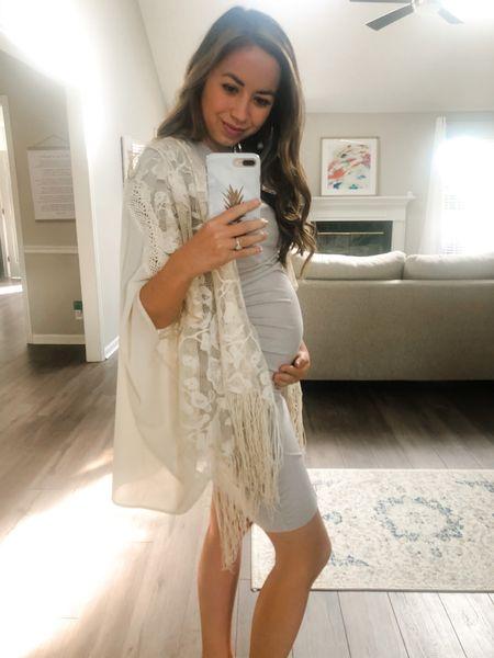 Cute maternity dress Amazon find!   #LTKSeasonal #LTKunder100 #LTKunder50