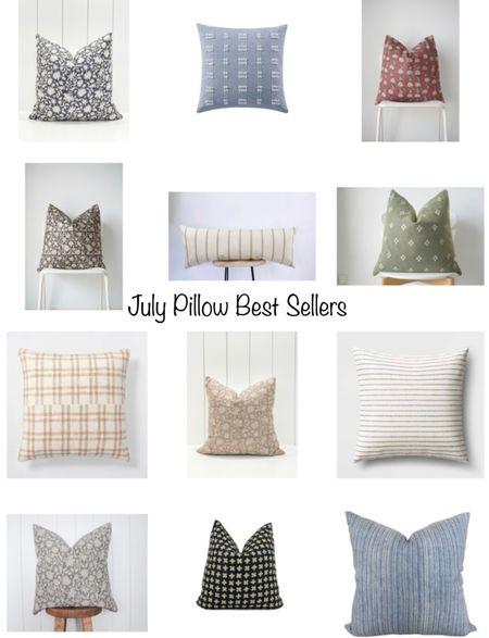 Sharing the best-selling pillows for the month of July! Walmart, Target & Etsy.    #LTKunder100 #LTKhome #LTKunder50