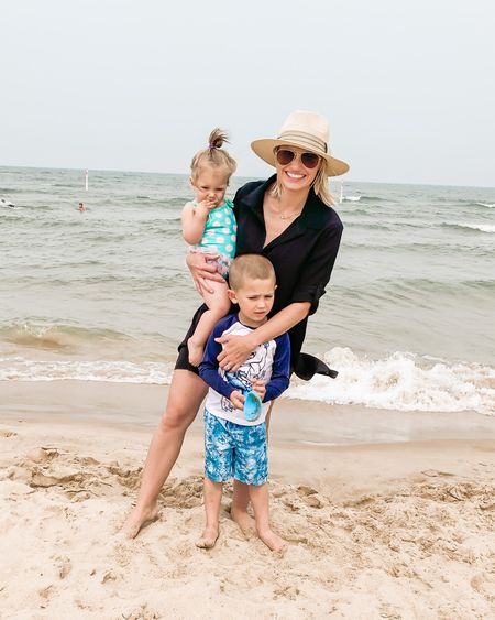 I love this affordable cover up from Walmart. Jack's Old Navy bathing suit is on sale!   #LTKtravel #LTKunder50 #LTKfamily