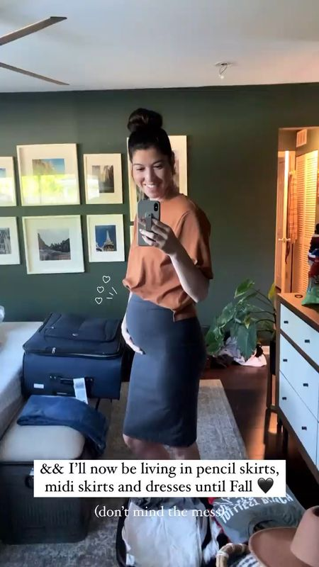Officially dressin' the bump! Pencil skirts and cropped tees are going to be my go to for work apparel this summer!   #LTKbaby #LTKstyletip #LTKbump