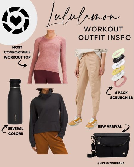 Lululemon Workout Outfit Inspo - athletic wear for fall, athleisure, workout tops, joggers  #LTKfit #LTKunder100 #LTKstyletip