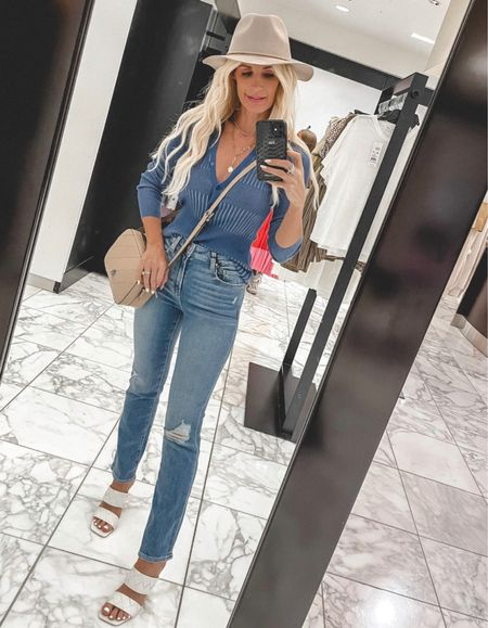 Entire look part of the NSALE! These Paige jeans are the BEST!!! A high-rise slim straight leg that will make your legs look crazy long! They run tts, I'm wearing a size 24. @liketoknow.it #liketkit http://liketk.it/3jwzI Shop my daily looks by following me on the LIKEtoKNOW.it shopping app  Follow my shop on the @shop.LTK app to shop this post and get my exclusive app-only content!  #liketkit #LTKunder100 #LTKshoecrush #LTKsalealert @shop.ltk http://liketk.it/3jwzI