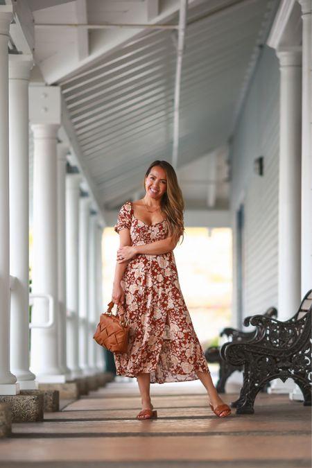 Love this floral midi dress! Petite friendly, nursing friendly and has pockets! Wearing size xxs petite  #LTKstyletip #LTKwedding #LTKSeasonal