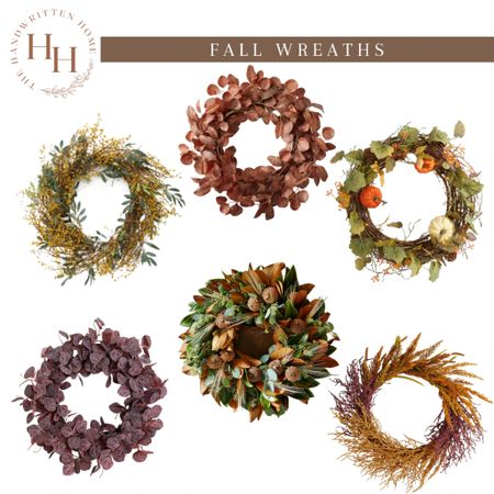 Fall Wreaths are perfect easy update for your front door!  McGee and co   threshold wreath   fall wreath   fall front porch   front door wreath   pottery barn fall decor   fall decor  #LTKSeasonal #LTKhome #LTKsalealert
