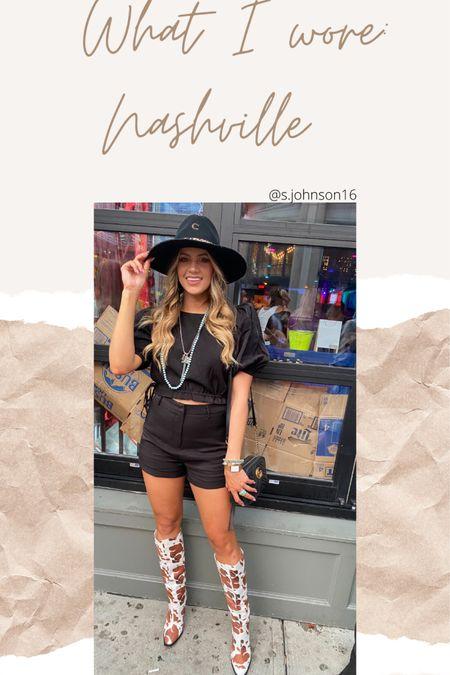 Nashville look: night out on Broadway  Size medium in set Shoes TTS  http://liketk.it/3hSpM #liketkit @liketoknow.it #LTKsalealert #LTKstyletip #LTKunder50