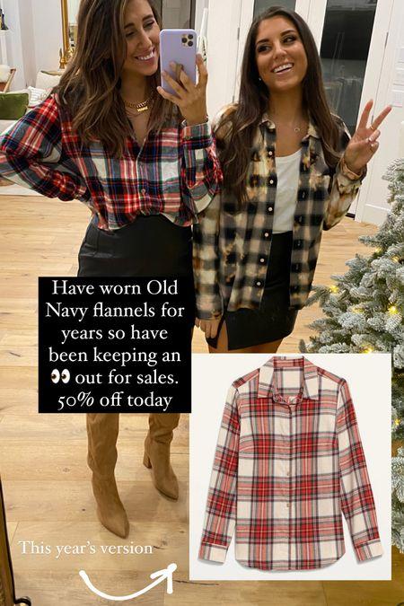 My fav Old Navy flannels on sale for 50% off today!   #LTKstyletip #LTKsalealert #LTKSeasonal