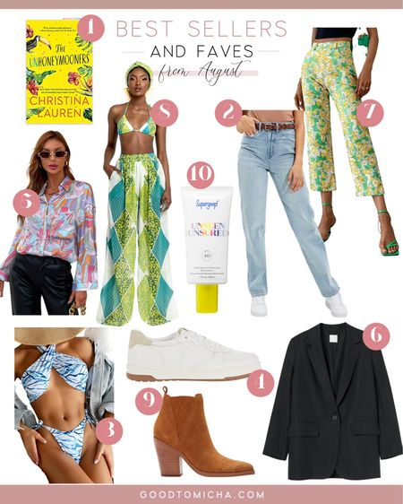 Best sellers + product faves from August! Jeans, floral pants, blazer, beach shirt, swim suit, sneaker, boots and more!  #LTKSeasonal #LTKstyletip #LTKshoecrush