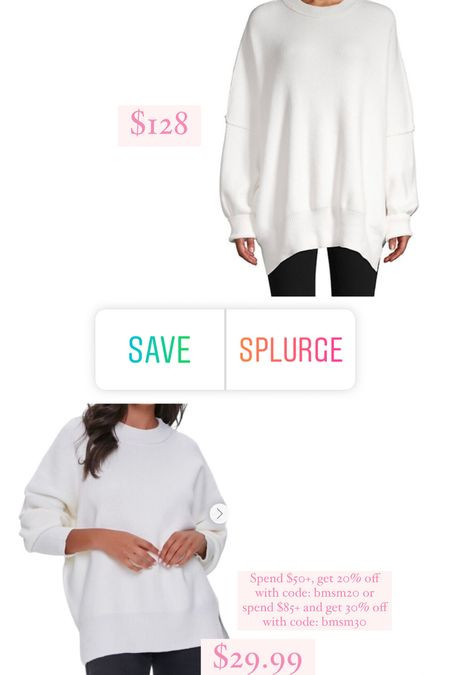 Free people sweater, Forever21 sweater   #LTKsalealert #LTKunder100 #LTKunder50