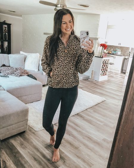 I can never have enough leopard and this pullover is so cute and incredibly soft! I sized up to a medium for a more oversized fit. These leggings are the most comfortable leggings ever and my favorite workout pants I own. Way more affordable than lululemon and just as good. I bought them in the green and loved them so much that I went and got the black also! http://liketk.it/2F13Z #liketkit @liketoknow.it #LTKstyletip #LTKunder50 #LTKunder100