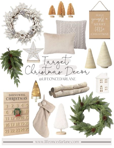 Must have Christmas decor all from Target!! Super festive and affordable ale finds for your living room, mantle and more!!   #targetfinds #christmasdecor   #LTKhome #LTKunder50 #LTKHoliday