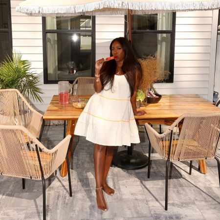 #ad Easy summer dresses are my current go-to , having backyard fun in this @walmart babydoll dress. Of course its linked in my stories, along with another fun dress and the perfect summer bag! #walmartfashion http://liketk.it/3hPzM #liketkit @liketoknow.it #LTKunder100 #LTKunder50