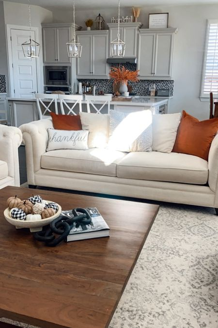 Added some rust color to our living room    #LTKSeasonal #LTKhome