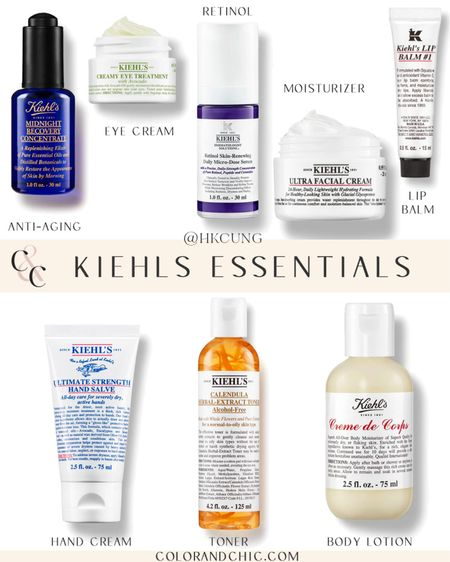 My skincare essentials from Kiehls! I'm trying their micro-dose retinol serum and applying it in the morning under sunscreen to help with anti aging.   #LTKstyletip #LTKbeauty