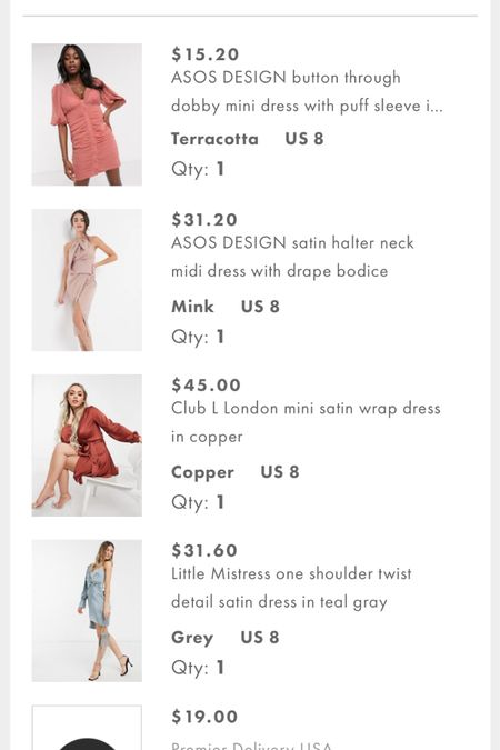 My recent ASOS order 🤍 wedding guest dress shopping for a few weddings coming up this spring and summer! Use code FITS4U for 20% off $40+!!! http://liketk.it/3cbpr #liketkit @liketoknow.it #LTKSpringSale #LTKwedding #LTKunder50 #weddingguestdress #weddings #ASOS