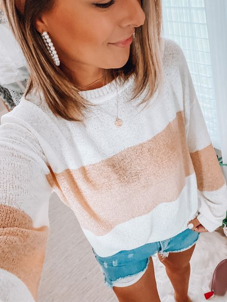 One of my fav. lightweight sweaters from #amazonfashion has been restocked and is on sale for less than $15 today!!   #LTKSeasonal #LTKunder50 #LTKstyletip