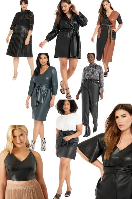 Plus size fall outfits but make it LEATHER (faux that is!) http://liketk.it/2Wuh2 #liketkit @liketoknow.it #LTKunder50 #LTKcurves