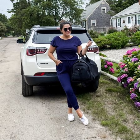 Another great vacation in the books! Comfy and casual for the ride home. Romper is a size medium! And this is the best carry-on in all the world.    http://liketk.it/3jTkv #liketkit @liketoknow.it #LTKtravel #LTKstyletip #LTKcurves