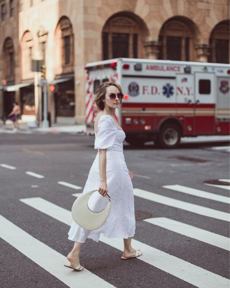 white linen dress never goes out of style! 🥰  #LTKstyletip