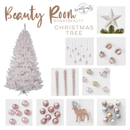 I had so much fun curating these gorgeous rose gold ornaments for my new sparkling pre-lit white Christmas Tree in my Beauty Room! Screenshot this pic to get shoppable product details with the LIKEtoKNOW.it shopping app http://liketk.it/31you #liketkit @liketoknow.it #LTKunder100 #LTKunder50 #LTKhome @liketoknow.it.home